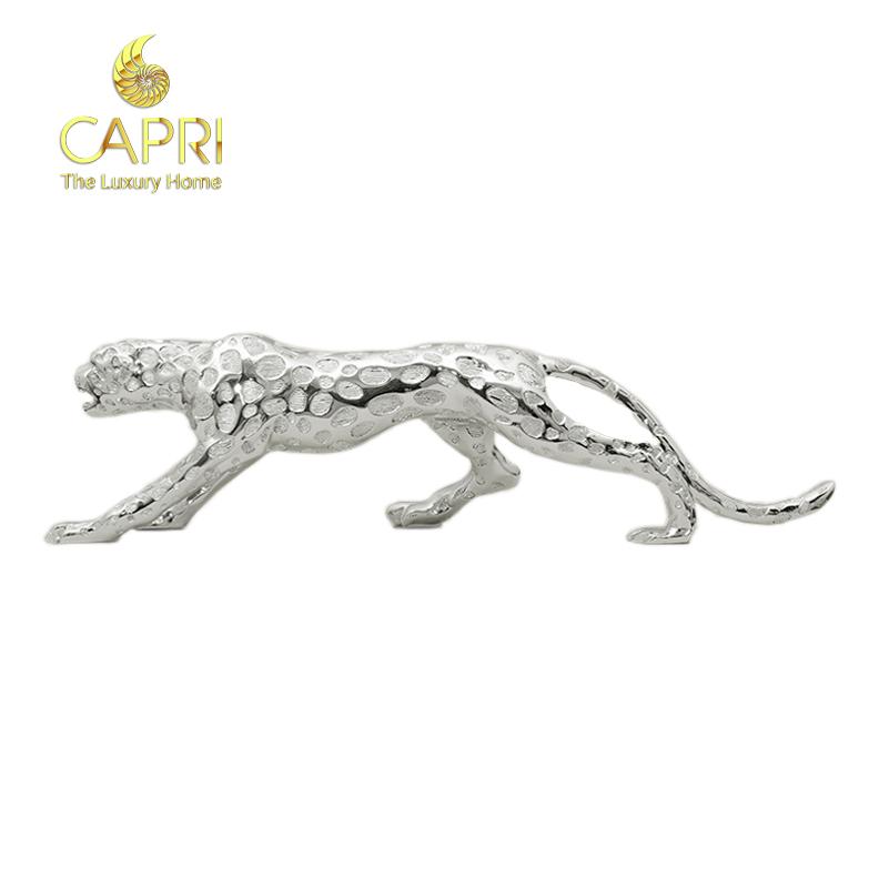 Đồ decor cao cấp Capri Home: Tượng Báo phong thuỷ (45cm)