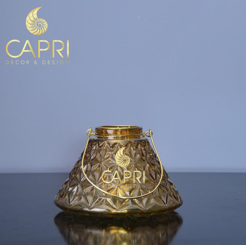 Âu thủy tinh tam giác Capri màu vàng kim