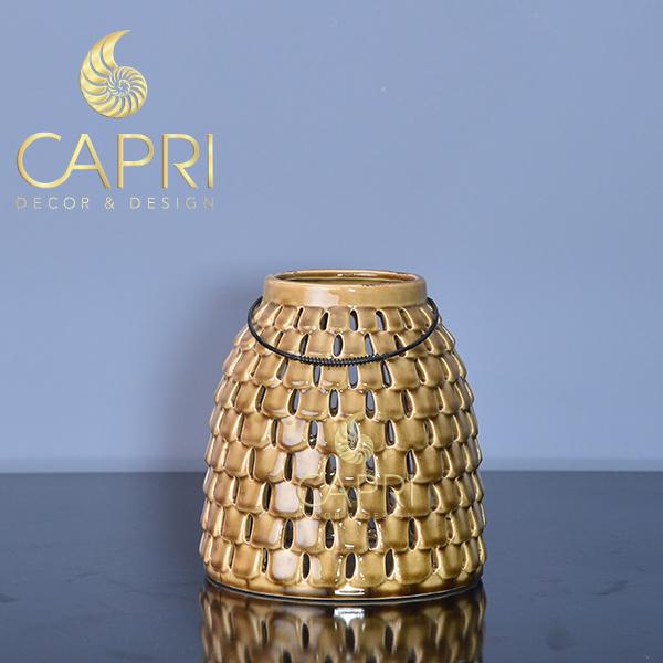 Bình đựng Capri cao cấp vàng xám