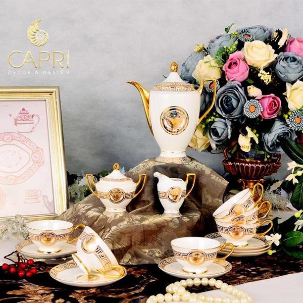Bộ ấm trà trang trí cao cấp Capri Home, sản phẩm dành cho người yêutrà đạo