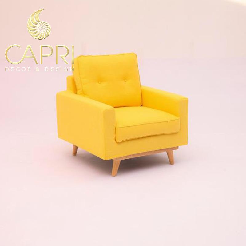 Đồ nội thất cao cấp Capri Home: Sofa đơn vàng