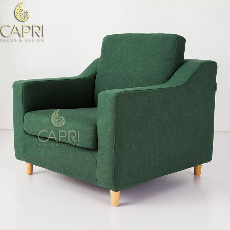 Đồ nội thất cao cấp Capri Home: Sofa đơn xanh lá