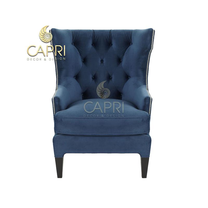 Đồ nội thất cao cấp Capri Home: Sofa đơn xanh dương