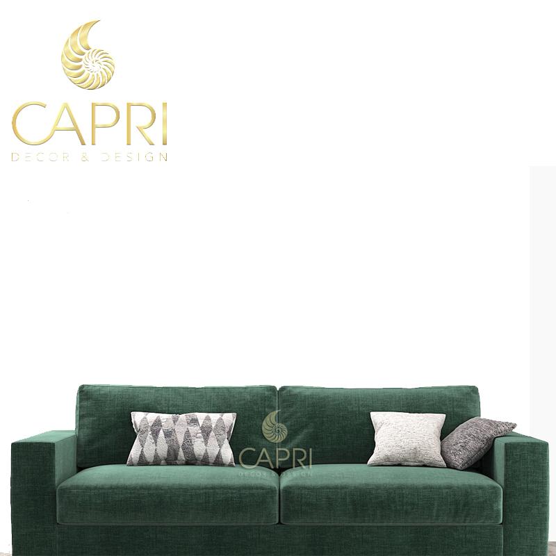 Đồ nội thất cao cấp Capri Home: Sofa xanh lába chỗ ngồi