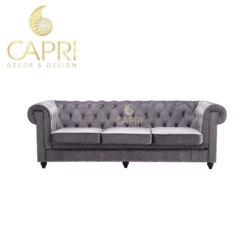 Đồ nội thất cao cấp Capri Home: Sofa xámba chỗ ngồi
