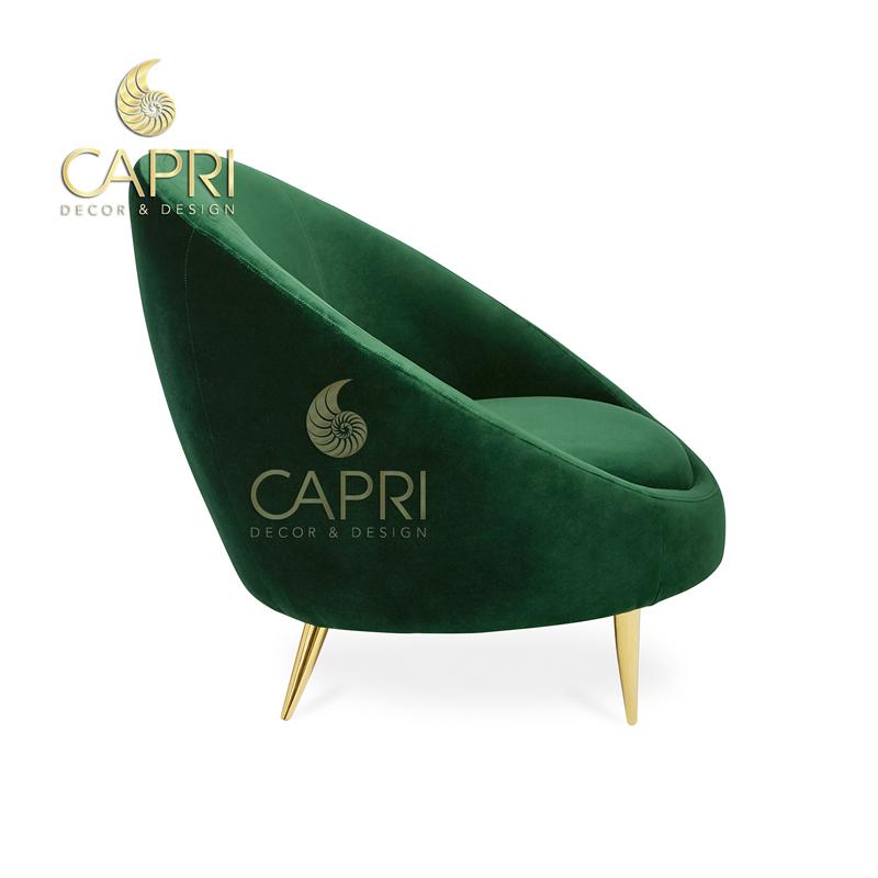 Đồ nội thất cao cấp Capri Home: Sofa đơn (mẫu 2)